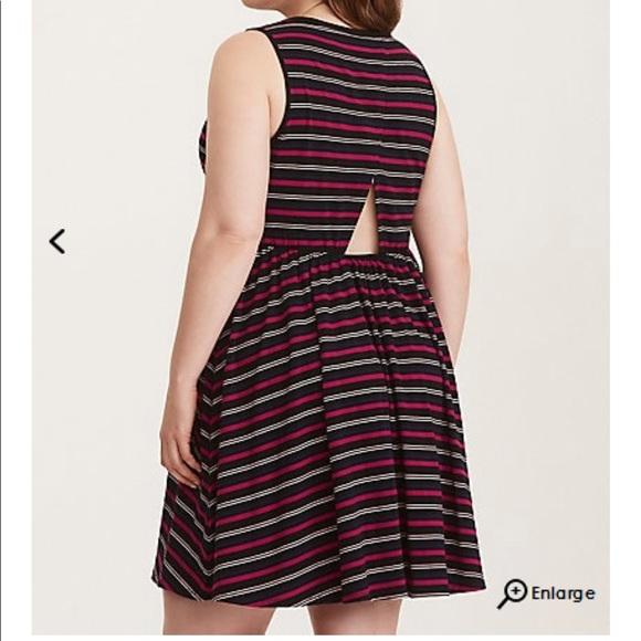 2e265e23aa67 Torrid striped skater dress